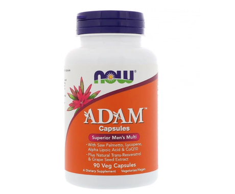 NOW Adam Men's Multiple Vitamin | Адам мултивитамини за мъже, 90 капсули
