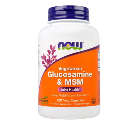 NOW Vegetarian Glucosamine & MSM | Глюкозамин и МСМ, 120 вег. капсули