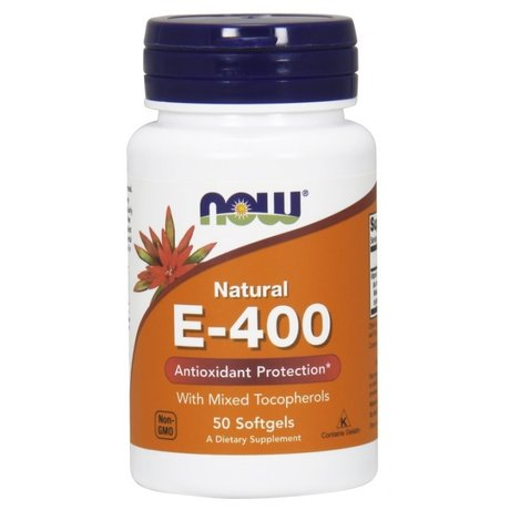 NOW Foods Vitamin E 400 IU | Витамин Е, 50 дражета