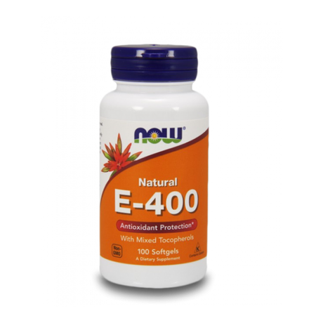 NOW Foods Vitamin E 400 IU | Витамин Е, 100 дражета