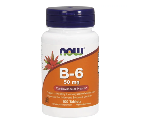 NOW Foods Vitamin B6 50mg | Витамин Б6, 100 таблетки