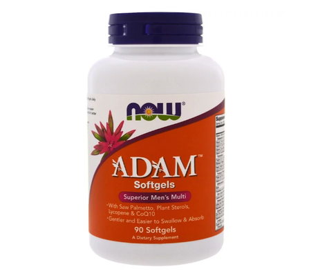 NOW Adam Men's Multiple Vitamin | Адам мултивитамини за мъже, 90 дражета
