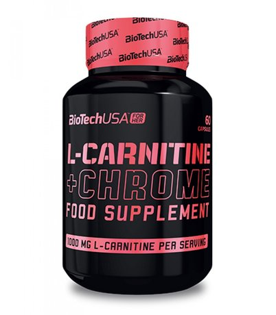 BioTech USA for Her L-Carnitine & Chrome  | Л-Карнитин и Хром, 60 капсули