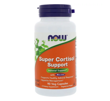 NOW Foods Super Cortisol Support | Анти Стрес, 90 капсули