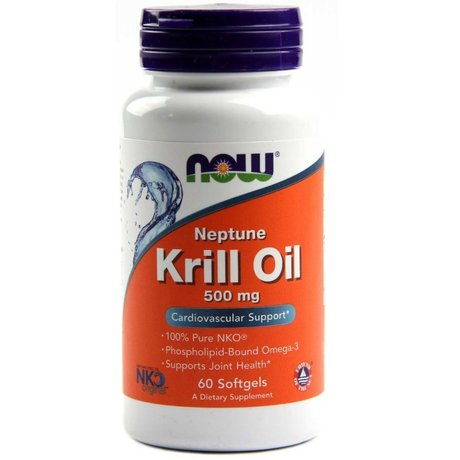 NOW Neptune Krill Oil | Масло от Крил, 60 дражета