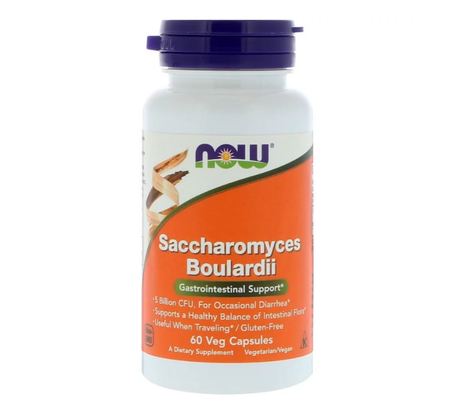 NOW Foods Saccharomyces Boulardii | Дрожди, 60 капсули
