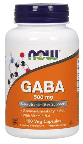 NOW Foods GABA 500mg+B6 | Габа+Витамин B6, 100 вег. капсули