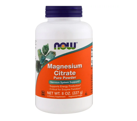 NOW Foods Magnesium Citrate Powder | Магнезий на прах, 227 гр.