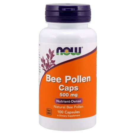 Now Foods, Bee Pollen | Пчелен прашец 500мг, 100 капсули