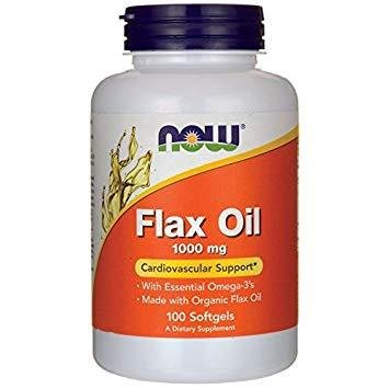 Now Foods Flax Oil Organic 1000mg | Ленено масло, 100 бр.