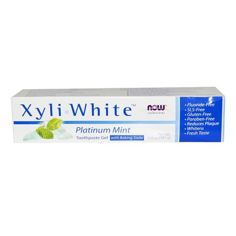 NOW Foods Xyliwhite Platinum Mint | Паста за зъби Mента