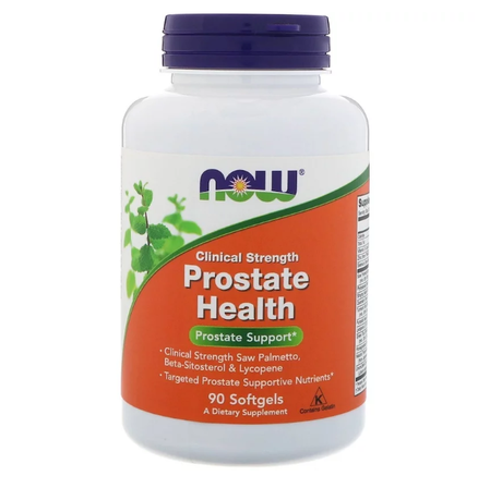 NOW Foods Prostate Health Clinical Strength | Здраве за простатата, 90 дражета