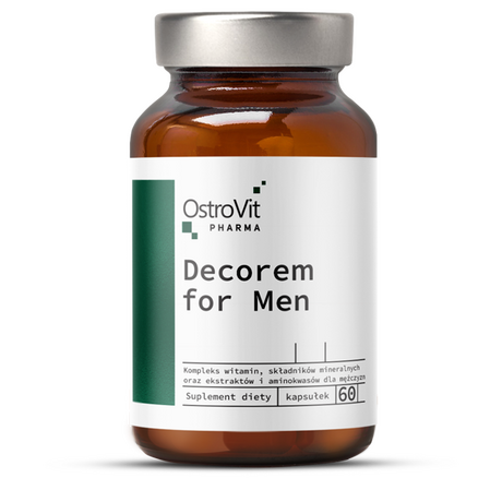 OstroVit Pharma Decorem For Men | Мултивитамини за мъже, 60 капсули