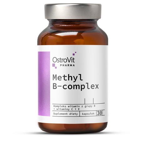 OstroVit Pharma Methyl B-Complex | Витамини Б-комплекс, 30 капсули