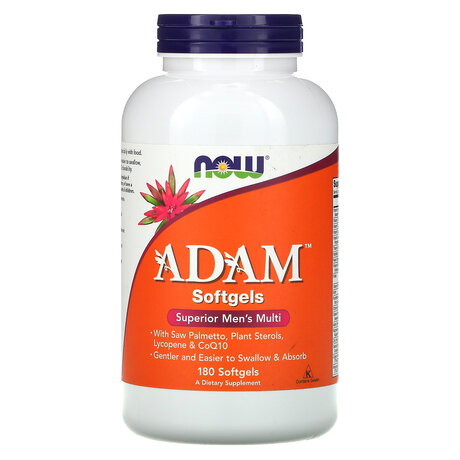 NOW Foods Adam Men's Multi Vitamin | Адам мултивитамини за мъже, 180 дражета