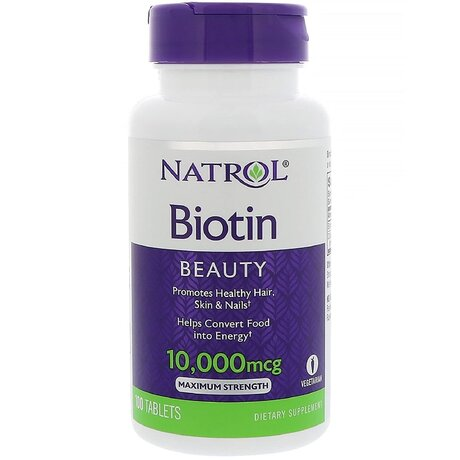 Natrol Biotin Maximum Strength 10000mcg | Биотин, 100 таблетки