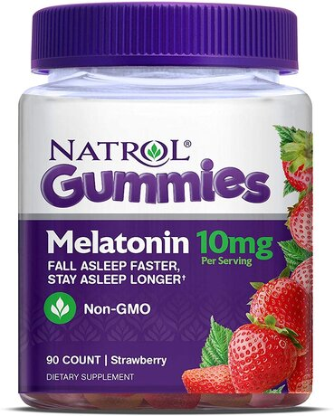 Natrol Melatonin Gummies 10mg | Мелатонин дъвчащ, 90 дражета