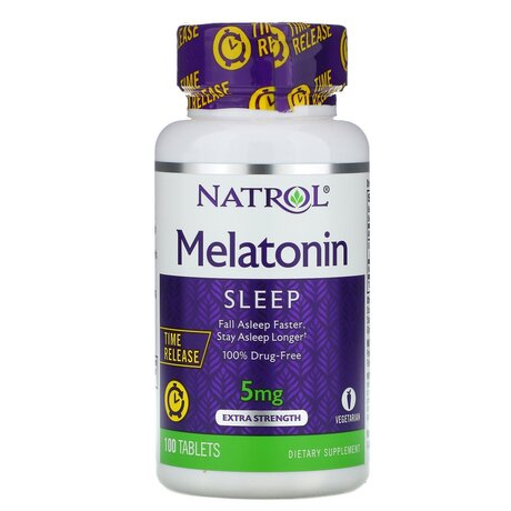 Natrol Melatonin 5mg. Time release | Мелатонин, 100 таблетки