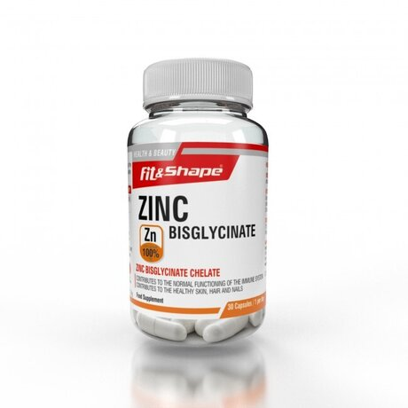 Fit & Shape Zinc Bisglycinate | Цинк, 30 капсули