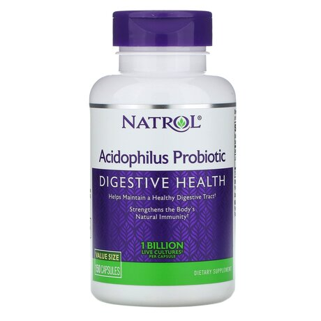 Natrol Acidophilus Probiotic 100mg | Пробиотик, 150 капсули