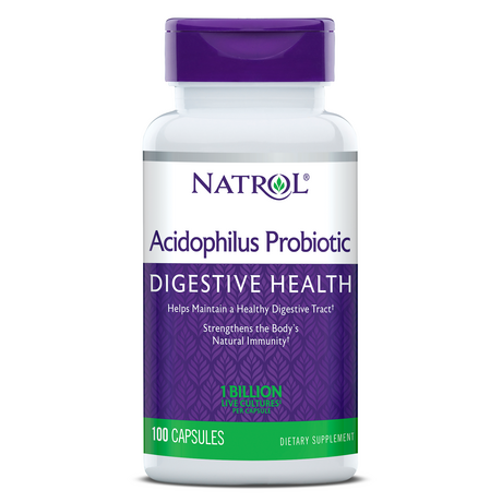Natrol Acidophilus Probiotic 100mg | Пробиотик, 100 капсули