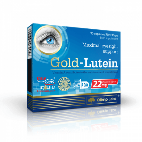 Olimp Gold Lutein | Лутеин + Зеаксантин + DHA, 30 капсули