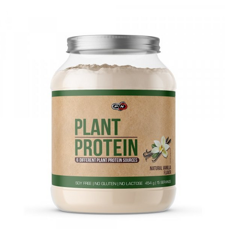 Pure Nutrition Plant Protein Natural Vanilla | Растителен протеин, 454 гр.