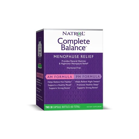 Natrol Complete Balance Menopause relief AM/PM | При Менопауза, 2x30 капсули