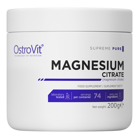 OstroVit Supreme Pure Magnesium Citrate | Магнезий Цитрат, 200 гр.