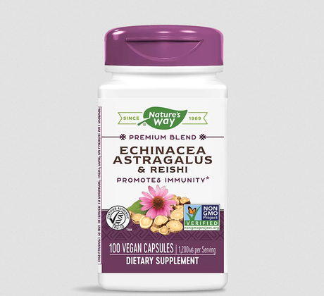 Nature's Way Echinacea, Astragalus & Reishi | Ехинацея, Астрагал и Рейши, 100 капсули