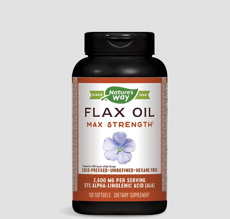 Nature's Way Flax Oil 57% ALA | Ленено масло, 100 дражета