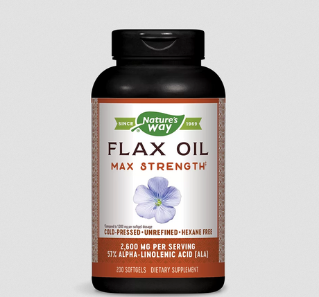 Nature's Way Flax Oil 57% ALA | Ленено масло, 200 дражета