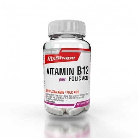 Fit & Shape B12 + Folic Acid | Витамин Б12 с Фолиева киселина, 30 капсули