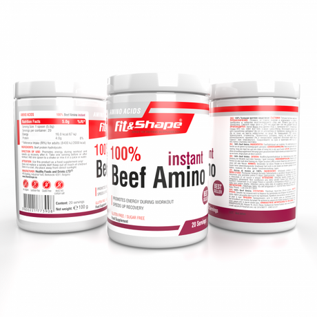 Fit & Shape Beef Amino | Телешки аминокиселини, 100 гр.