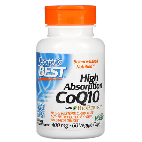 Doctor's Best High Absorption CoQ10 400mg | Коензим Q10, 60 вег. капсули