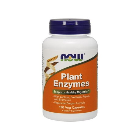 NOW Foods Plant Enzymes | Растителни ензими, 120 вег. капсули