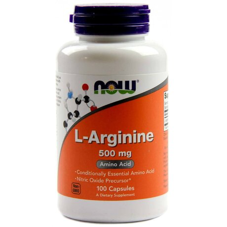 NOW Foods l-Arginine 500mg | Аргинин, 100 капсули