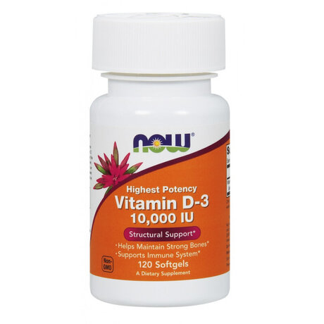 Now Foods Vitamin D3 10000 IU | Витамин Д3 10000 IU, 120 дражета