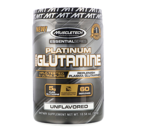 MuscleTech 100% Platinum Glutamine | Глутамин, 302 гр.