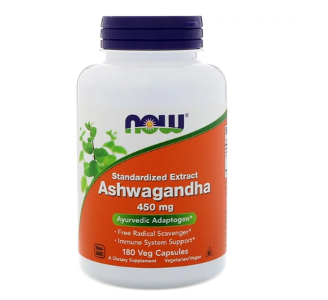 NOW Foods Ashwagandha Extract 450mg | Ашваганда, 180 вег. капсули