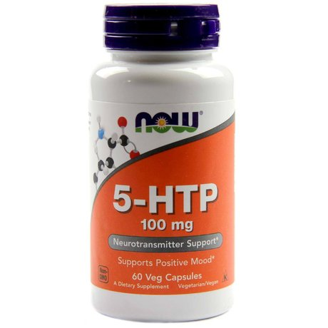 NOW Foods 5-HTP 100mg, 60 вег. капсули