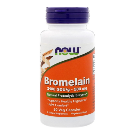 NOW Foods Bromelain 500mg | Бромелаин, 60 вег. капсули