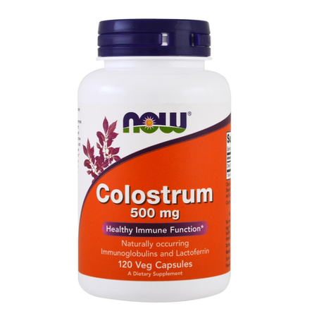 NOW Foods Colostrum 500 mg | Коластра, 120 вег. капсули
