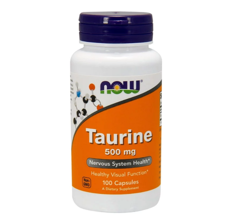 NOW Foods Taurine 500mg | Таурин, 100 капсули
