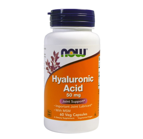 NOW Foods Hyaluronic Acid with MSM | Хиалуронова киселина, 60 вег. капсули