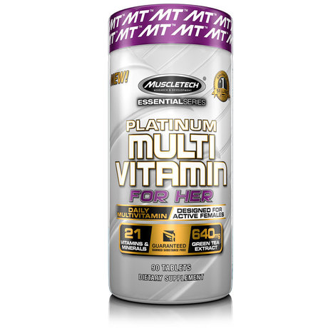 MuscleTech Platinum Multi Vitamin For Her | Мултивитамини за жени, 90 таблетки