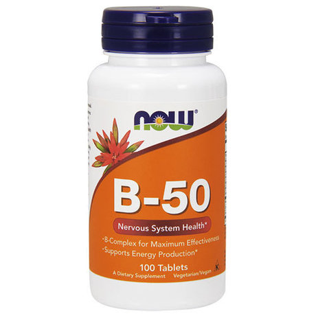 NOW Foods Vitamin B-50 | Б-Комплекс, 100 таблетки