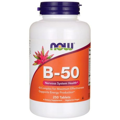 NOW Foods Vitamin B-50 | Б-комплекс, 250 таблетки