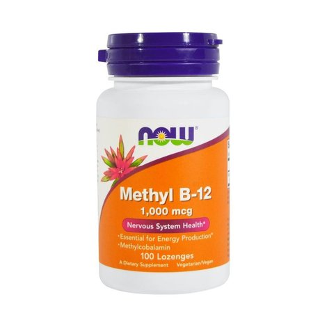 NOW Foods Methyl B-12, 1000mcg | Витамин В-12, 100 дражета