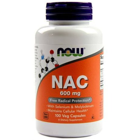 NOW Foods N-ACETYL CYSTEINE  600 mg | NAC, 100 вег. капсули
